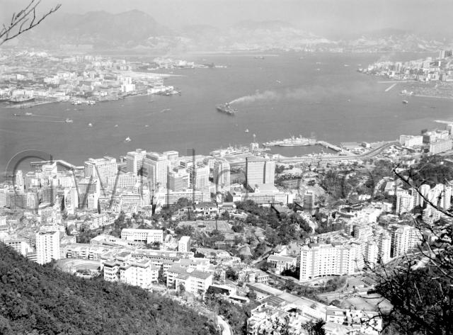 1965 View over Central & Harbour from The Peak