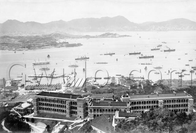 1907 View over BMH & Naval Yards to Harbour