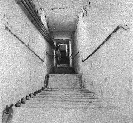 Staircase down into the Battle Box