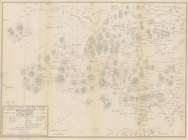 1890s Map of Kowloon and New Territories