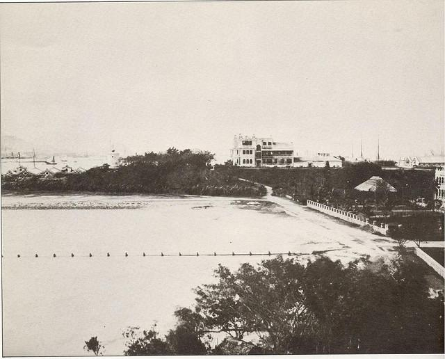 Marine Police HQ with inlet in foreground