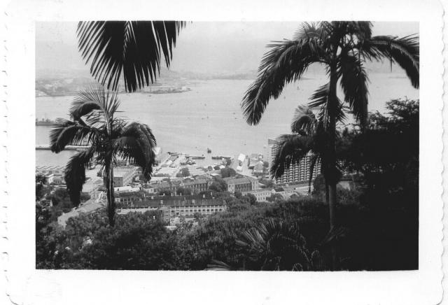 View from The Peak across Hong Kong harbour July 1959