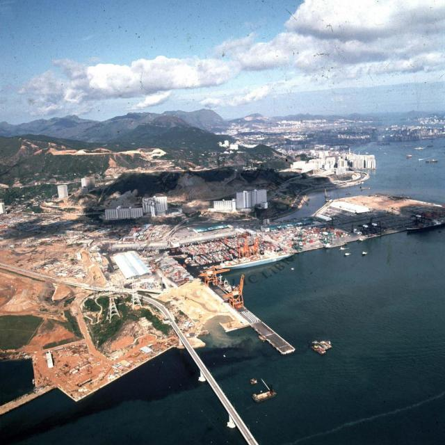 Tsuen Wan and Tsing Yi Bridge 1977