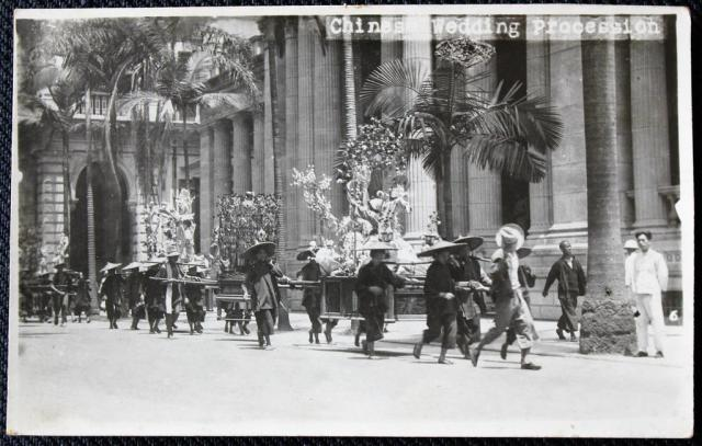 Postcard Chinese Wedding Procession, 1930s