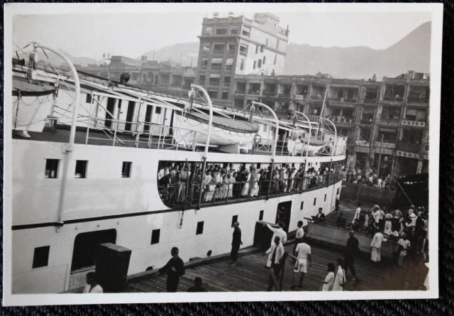 Photo 1930s China voyage Hong Kong, Chefoo (?), Aden (?)