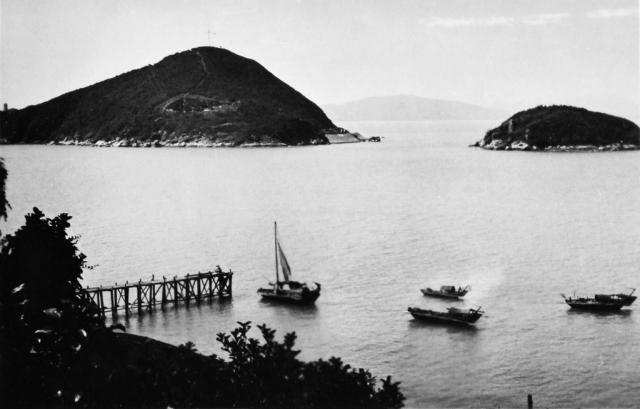 Junks near Kennedy Town, Hong Kong Island, 1930s