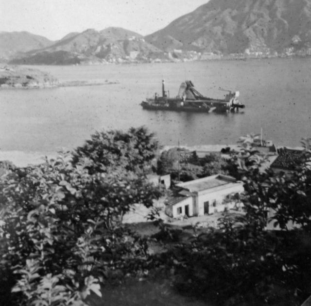 Boele family archives: Hong Kong, dredger and Lei Yue Mun Pass, 1953
