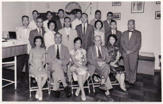 Staff of K Caudron & Co - HK Importers and Exporters 1960