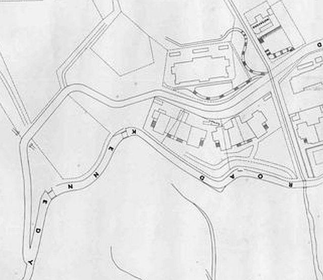 1901 Map - Kennedy and MacDonnell Roads - Sheet 16 (Rotated View)