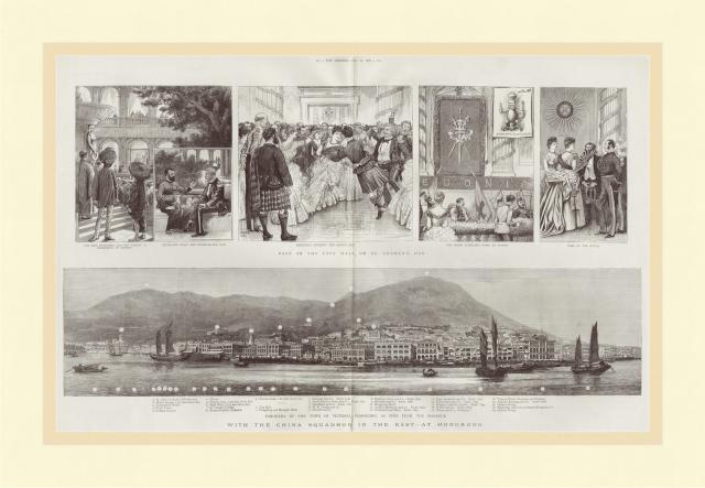 1887 Panorama of Victoria, Hong Kong