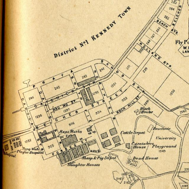 1924 Map of Kennedy Town   Gwulo: Old Hong Kong Kennedy Map on