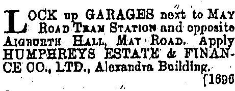 1930s May Road Garages