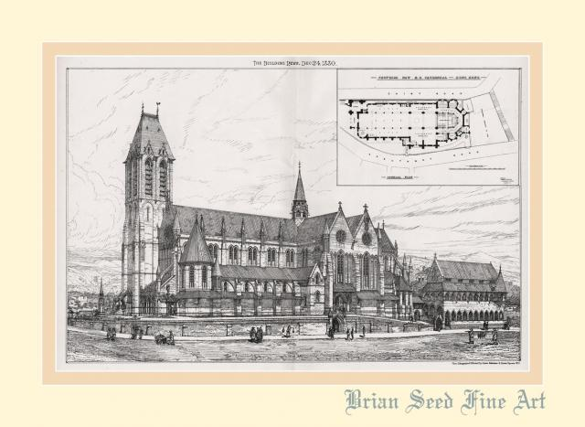 1880 Proposed RC Cathedral Building Plan Gwulo Old Hong Kong