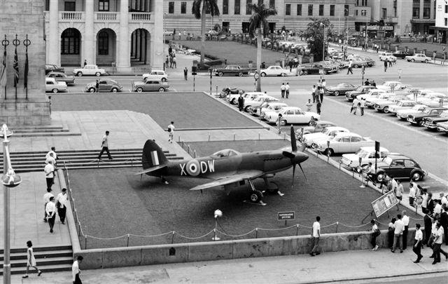 Spitfire on display at the Cenotaph