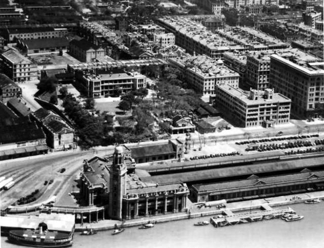 1930s Tsim Sha Tsui KCR station, YMCA and Peninsula Hotel