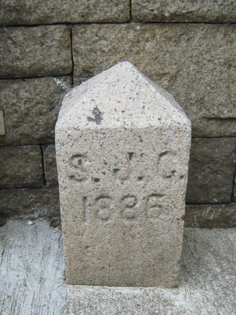 Marker stone for St John's Cathedral