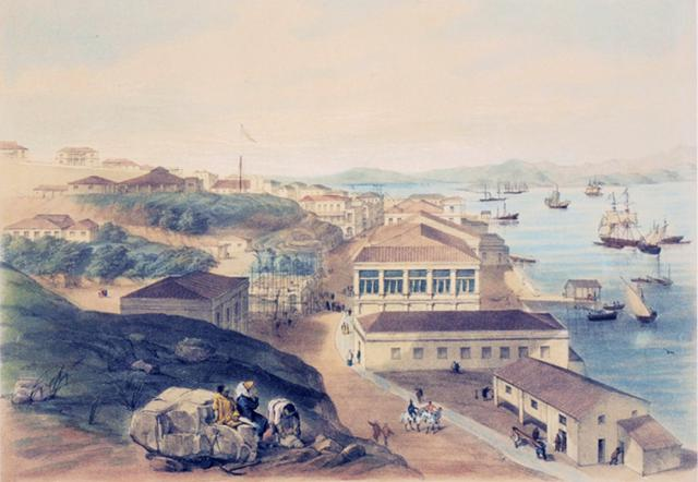 View of Queen's Road and the Harbour Looking West from Murray's Battery