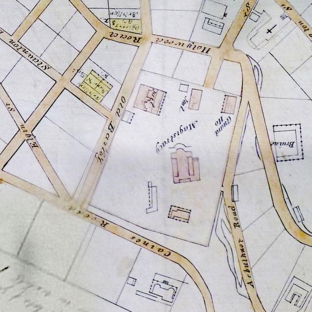 1845 map - Magistracy & Jails