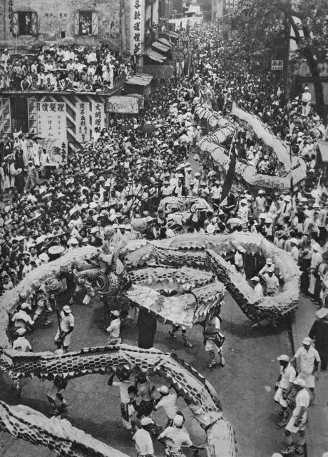 Dragon Dancers-celebration for Coronation of King George 6th-1937-001