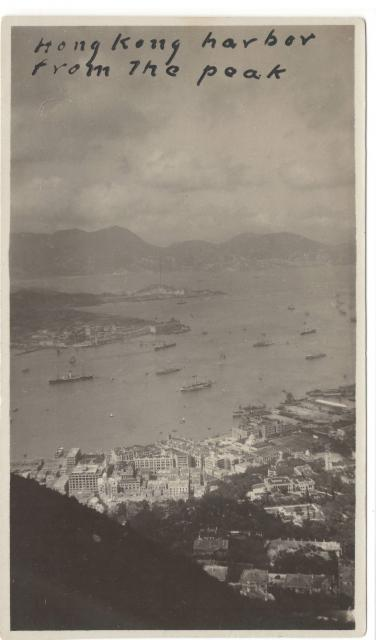 1924 Victoria Harbour from the Peak (1 of 2)