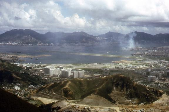 KaiTak from Kowloon Peak 1964