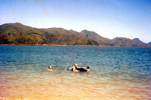 Swimming at Castle Peak