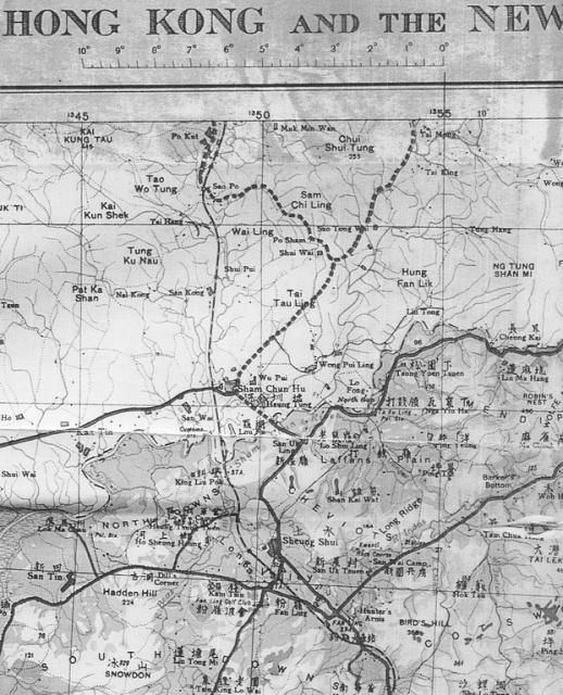 MapNorth West New Territories1939 Gwulo Old Hong Kong