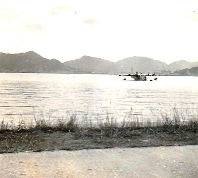 Seaplane returning from Korea