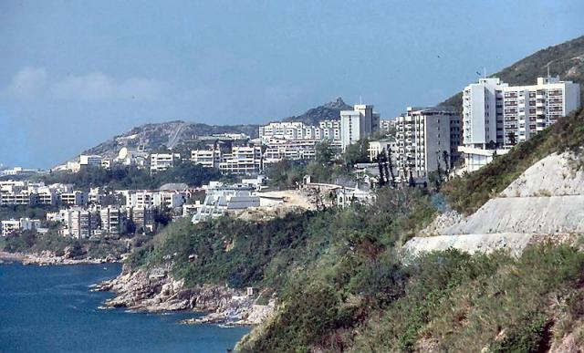 1983 - view to Stanley from Turtle Cove Villas