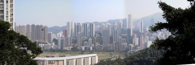 2002 - panorama from Bowen Road