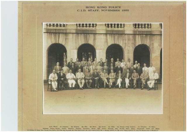 Hong Kong Police C.I.D. Staff, November 1932