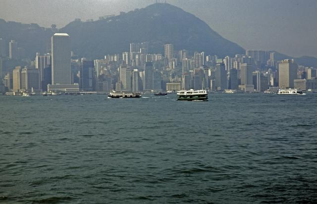 Victoria Harbour and Central from Star Ferry (1980)
