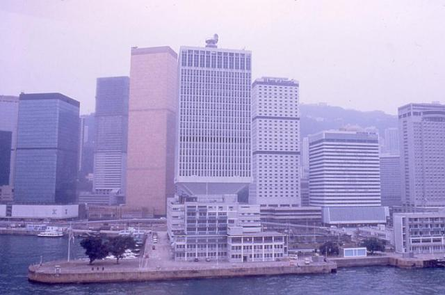 1986 - helicopter view of Prince of Wales Building