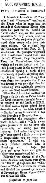 1922 Inspection of Girl Guides/Boy Scouts by Prince of Wales (Part I)
