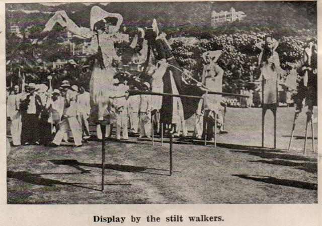 1937 Coronation stilt walkers.png