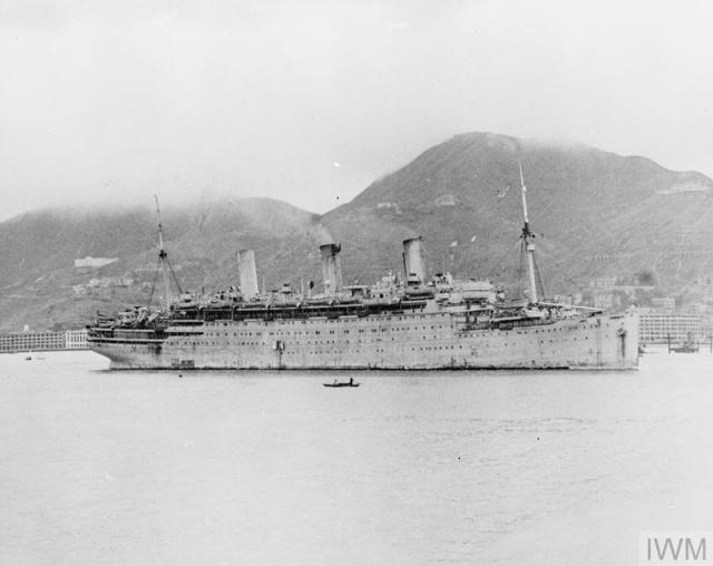 Empress of Australia in Hong Kong 1945