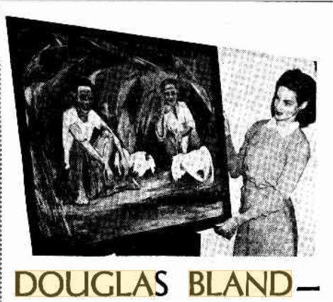 1953 – Veronica Bland promoting her husband's - renowned H.K. artist 白連 - paintings in Perth, W.A (2).jpg