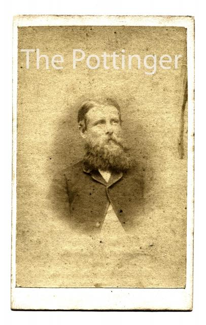 c.1868 - Western man with a splendid beard!