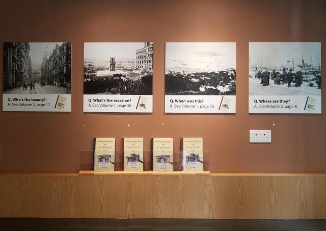 Photos & books on display