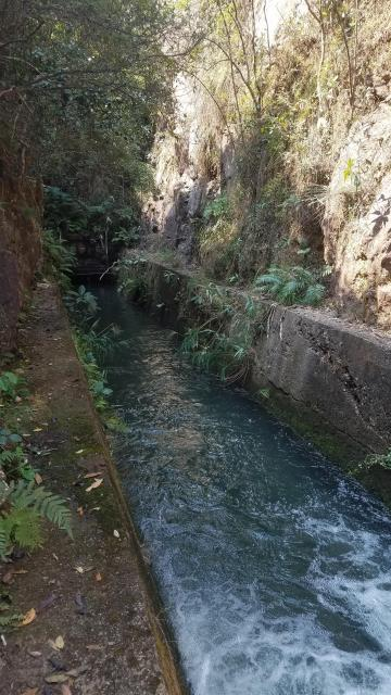 Channel leading to the water tunnel under Smugglers Ridge