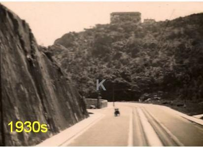 Deep cutting on the Shaukiwan (King's) Road in the 1930s