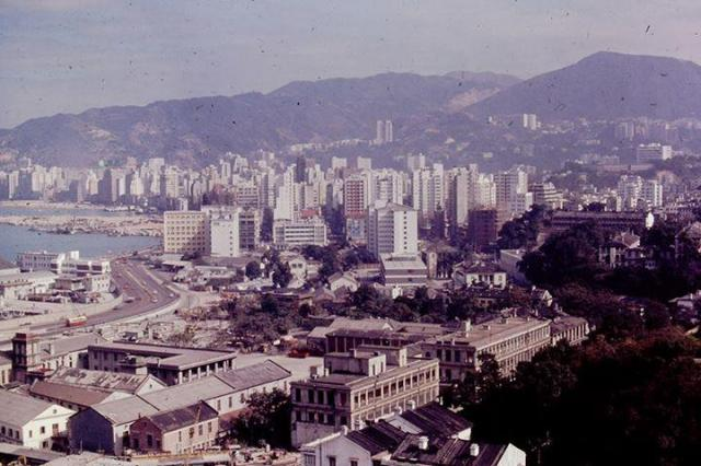 View from Government House east towards Wanchai across Admiralty