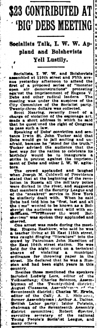 Arthur A. Dalton Sun and New York Press page 11 23rd March 1919.png