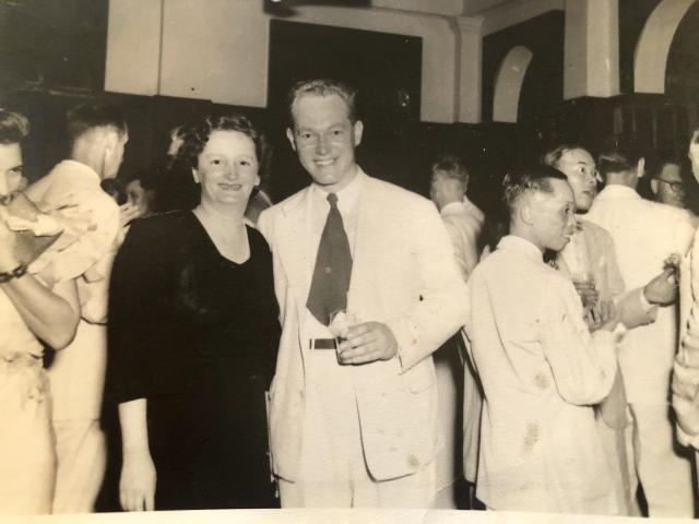 Charles and Eileen Medley, Hong Kong 1947