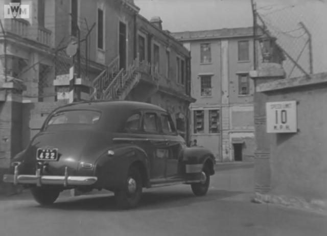Car entering North Point Power Station (1946)