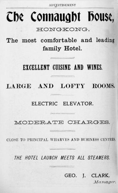 Connaught House Hotel Advertisement - 1903 - ( Services)