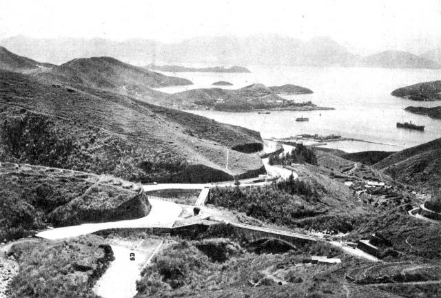 Curving up into Asia - the start of the road from Tsun Wan