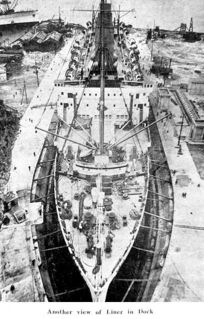 View- Ship 'Empress of Japan 'in Dock No.1