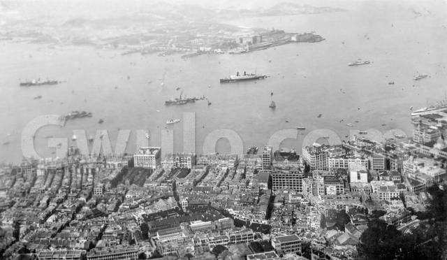 c.1928 View from the Peak over Central and the harbour