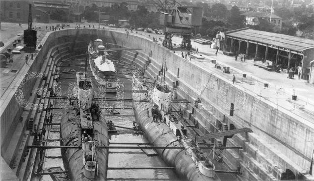 Dry dock at Royal Naval Dockyard
